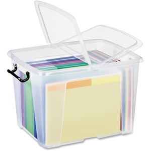 Strata Smart Box Binder Box 40 L Clear