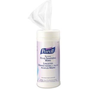 Purell® Alcohol Formulation Sanitizing Wipes 80 Wipes