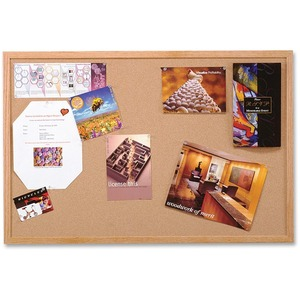 "Quartet® Cork Board with Wood Frame 48"" x 96"""