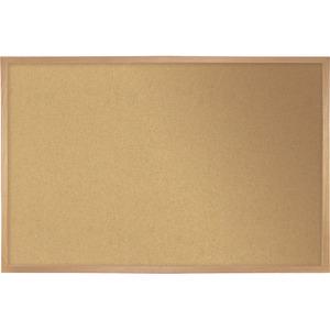 "Quartet® Cork Board with Wood Frame 24"" x 36"""