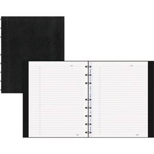 "Blueline® MiracleBind Notebook 9-1/4x7-1/4"" 150 pgs Black"