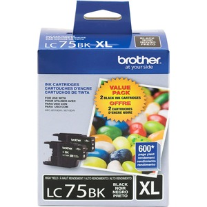 Brother® Inkjet Cartridges LC752PKS High Yield Black 2/pkg