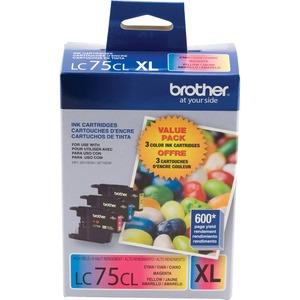 Brother® Inkjet Cartridges LC753PKS High Yield Cyan, Yellow, Magenta 3/pkg