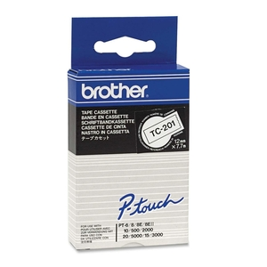 """Brother® P-Touch® TC Tape 1/2"""" Black on White"""