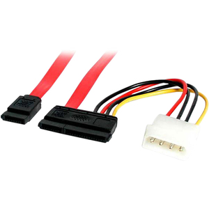 6in SATA Data and Molex Power Combo Cable / Mfr. No.: SATA6pow