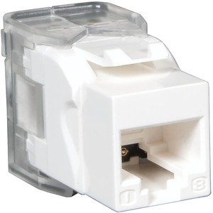 Cat6/Cat5e 110 Style Punch Down Keystone Jack White TAA/Gs / Mfr. No.: N238-001-Wh-Tf