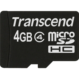 4gb Micro Sdhc4 No Box And Adapter / Mfr. No.: Ts4gusdc4