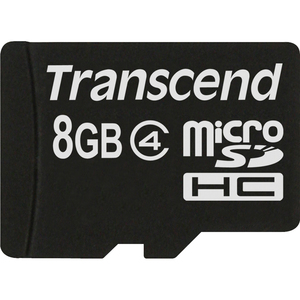 Transcend 8GB microSD High Capacity Card Class 4 / Mfr. No.: Ts8gusdc4