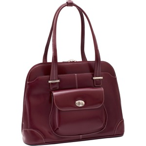 Mcklein Avon Ladies Briefcase Italian Leather Red / Mfr. No.: 96656