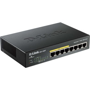 D-Link 8-Port Gigabit Metal Desktop Switch with 4 PoE Ports / Mfr. No.: Dgs-1008p
