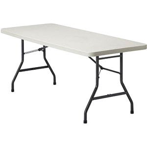 "Offices To Go Lite Lift II Rectangular Folding Table 72"" x 30"" Plastic Oyster Top"