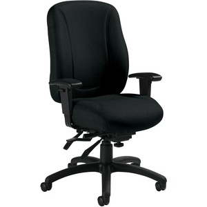 Offices To Go Overtime High Back Multi-Tilter Chair Jenny Ebony