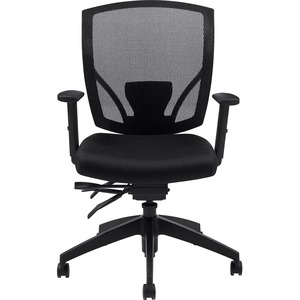 Offices To Go Ibex Mesh Medium Back Multi-Tilter Chair Jenny Ebony