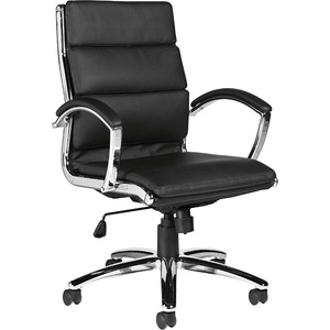 Offices To Go Retro High Back Tilter Chair Leather Black
