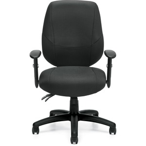 Offices To Go Six 31 Operator Chair Medium Back Quilt Fabric Black