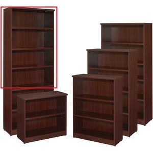 "Star Zeta Bookcase 6-Shelf 32"" x 14"" x 80-1/2"" Figured Mahogany"