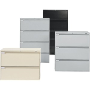 Global® Fileworks® 9300 Plus 3-Drawer Lateral File Cabinet Black