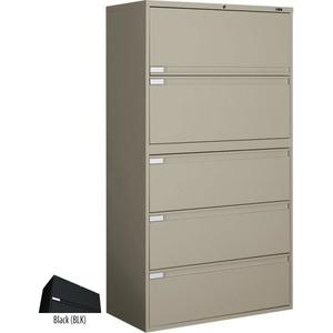 Global® Fileworks® 9300 Plus 5-Drawer Lateral File Cabinet Black