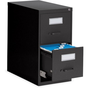 Global® Fileworks® 2600 Series Vertical File 2-Drawer Letter Black