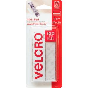 "Velcro® Sticky Back™ Fasteners 3/4"" x 4"" Strips 4/pkg"