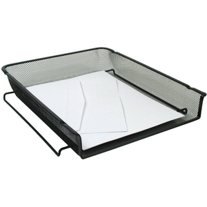 Winnable Mesh Stackable Front-load Tray Letter Black