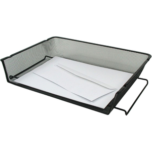 Winnable Mesh Stackable Side-load Tray Letter Black