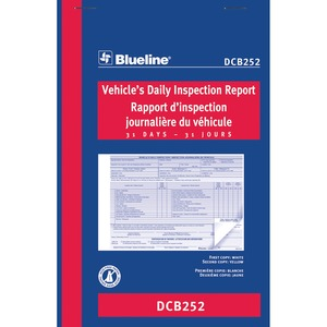 Blueline® Vehicle Daily Inspection Book 2 Part 31 sets Carbonless 5-3/8x8""