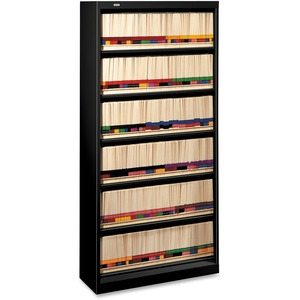 600 Series Shelf Files 6 Shelves Letter Black