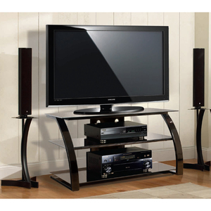 Black Finish Tv Stand 46in Metal And Glass / Mfr. No.: Pvs4204hg