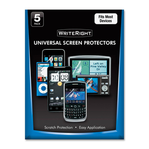 5pk Writeright Universal Screen Protector For Mobile Device / Mfr. No.: 9689901