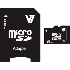 8gb Micro Sdhc Class4 W/SD Adapter Including Retail / Mfr. No.: Vamsdh8gcl4r-1n