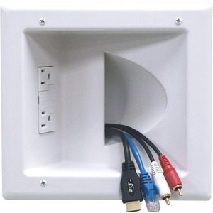 Recessed Media Plate With Surge White / Mfr. No.: Iba5-W