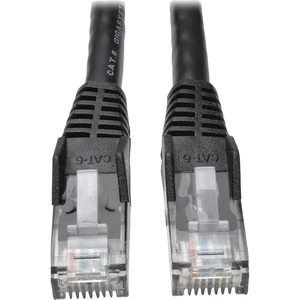 50ft Cat6 Gig Snagless Molded Patch Cable RJ45 M/M Black / Mfr. No.: N201-050-Bk