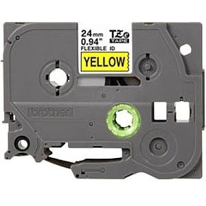 Brother TZE-FX651 Black on yellow Flexible Label Tape