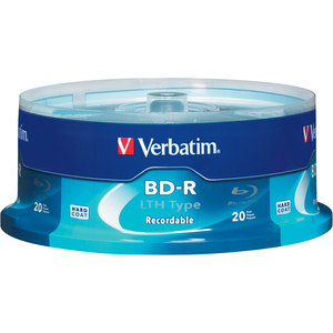 20pk Bd-R Lth 25gb 6x Spindle Blu-Ray Recordable Branded Disc / Mfr. No.: 97344