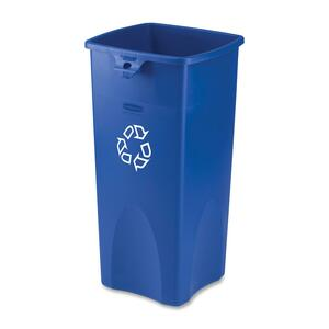 Rubbermaid® Square Recycling Container 132.5 L Blue