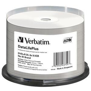 Pack de 50 DVD Verbatim DataLifePlus - 8x - 43754