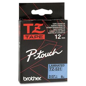 """Brother® P-Touch® TZ Tape 1/2"""" Black on Blue"""