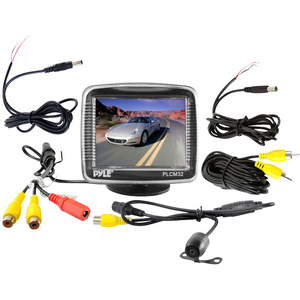 3.5 Tft LCD Monitor W/ Universal Mnt Rear Vw and Backup Color Cmd / Mfr. No.: Plcm32