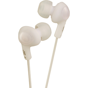 JVC Gummy Plus Inner-Ear Headphones - White / Mfr. No.: Hafx5w