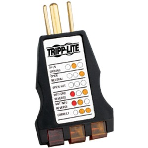 3-LED Plug-In Circuit Tester Wiring Status Of 120v Outlet 5- / Mfr. No.: Ct120
