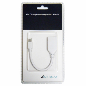 6in Cirago Dpn2042 Mini Display Port To Dp Adapter White / Mfr. no.: DPN2042