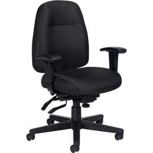 Offices To Go Full-Time Medium Back Multi-Tilter Chair Quilt Black
