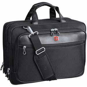 "Brief Bag Scn Smart 17.3"" Blk Swiss"