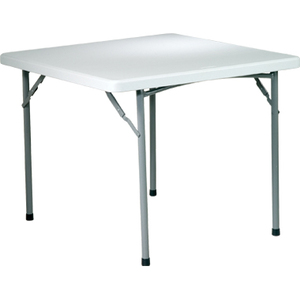 """Office Star Resin Folding Table 36"""" x 36"""" Square Grey"""