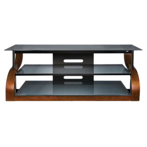 Curved Wood A/V Furniture 65 In Wide With Espresso Finish / Mfr. No.: Cw342