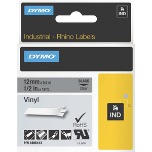 1/2in Gray Vinyl Labels For Rhino 6500 6000 5200 5000 4200 / Mfr. No.: 1805413