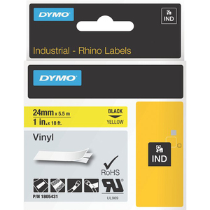 1in Yellow Vinyl Labels For Rhino 6500 6000 / Mfr. no.: 1805431