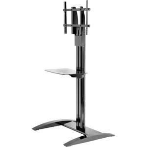 Flat Panel Stand W/ Glass Shelf Black For 32in/65in Displays / Mfr. no.: SS560G