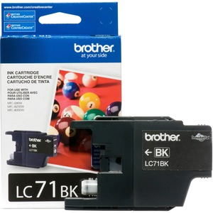 Lc71bk Black Ink Cartridge For Clr Inkjet Mfcs / Mfr. No.: Lc71bk